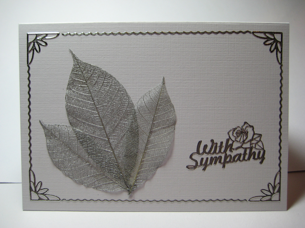 silver sympathy card, similar to the gold one above